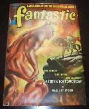 Fantastic Adventures, February 1952 Vintage Pulp Magazine Great cover art