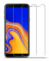 2X Panzer Glasfolie Samsung Galaxy J4 Plus Display Schutz Folie Echtglas Full 9H