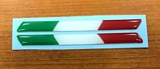 2 x LARGE 145mm ITALY FLAGS - HIGH GLOSS DOMED GEL Stickers/Decals - Italian