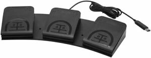 Upgraded USB Triple Foot Pedal Optical Switch Control PC Mouse Game Action HID