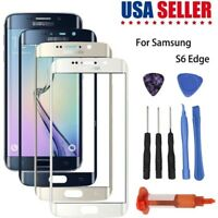 For Samsung Galaxy S6 Edge G925 Front Glass Lens Screen Replacement UV Glue Kit