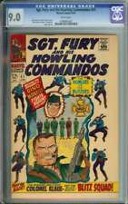 SGT. FURY AND HIS HOWLING COMMANDOS #41 CGC 9.0 WHITE PAGES // SILVER AGE WAR