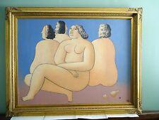 Contemporary Museum Quality O/C Females by Felix Sherman - Moore Picasso Braque