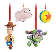 Disney Sketchbook Toy Story Woody Buzz Hamm Set Christmas Ornament Decoration
