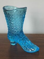EAPG Blue Victorian Shoe Boot Toothpick Holder