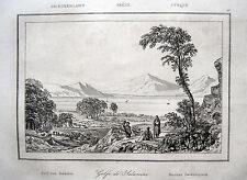 Saronischer golf saronic Gulf Salamina golfo saronique original-acero clave 1835