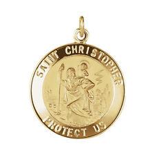 14K Gold Medium 20mm St St. Saint Christopher Medal 2.4 grams  Pendant Charm