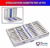 Sterilization Cassette Holds 10 Dental Surgical Instruments Autoclave Smile UK