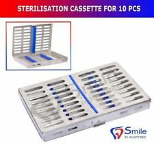 Sterilization Cassette Holds 10 Dental Surgical Instruments Autoclave Smile UK