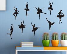 Set of 9 Ballerinas Girl Wall Stickers Decal Child Kids Vinyl Art Decor New