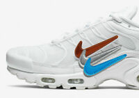 Nike Air Max Plus 'Removable Swoosh' Shoe's Men's White (CJ9696-100) Sz 10.5 US