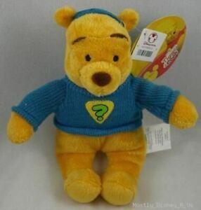 "New Disney Store Tigger & Pooh Bean Bag Plush 9"" Super Sleuth Toy Stuffed Doll"