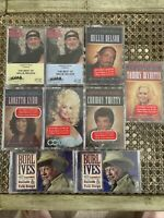 Sealed New Old Stock Country Music Cassette Tape Collection Willie Nelson, Dolly