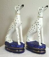 VTG Fitz & Floyd Dalmations Dogs Bookends Figurines