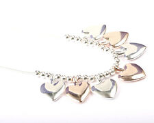 Park Lane Rhodium and Rose Gold Plated Heart Necklace