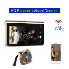 "4.3"" LCD WiFi Peephole Doorbell Video 2Way Intercom HD 720p Motion Detection IR"