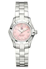 AUTHENTIC TAG HEUER LADIES AQUARACER WAF141A.BA0813 DIAMOND PINK PEARL WATCH B&P