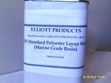 5 gal 435 Standard Polyester Layup Resin Marine Grade plus MEKP  and free Wax
