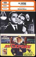 AL CAPONE - Steiger,Balsam,Wilson (Fiche Cinéma) 1959