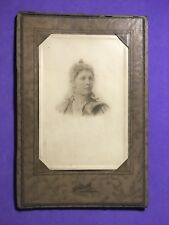 Antique Framed Cabinet Photo of Fair Lady in Fancy Dress by HILDRETH Longmont CO
