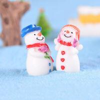 Christmas Snowman DIY Miniature Figurine Garden Dollhouse Decor Micro Landsca3C