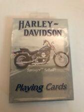 Playing CardsHarley DavidsonSealed New Old Stock Poker Size US Playing Co