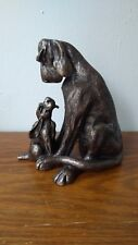 Frith Sculpture AMBER WITH PUP  by Harriet Dunn in cold cast bronze - code HD048