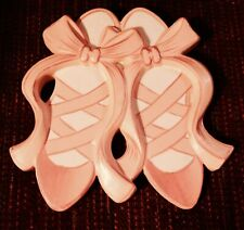 Wall Plaque Ballet Shoes Pink Ballerina Dance Hand Painted