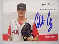 CALEB CLAY signed RED SOX 2007 Just Minors baseball card AUTO Autographed KOREAN