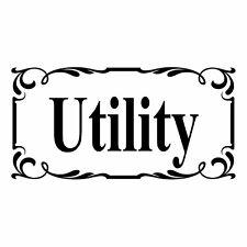 Utility Door Sign  - Vinyl Decal Sticker