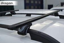 To Fit 2014+ Renault Trafic Black Roof Rail Locking Grip Cross Bars + T Pieces