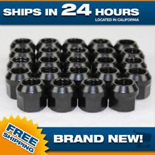 12x1.5 lug nut - black - open end steel - M12x1.5 - Set of 24 lugnuts