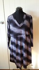 Cordelia St Charcoal Bounce Dress Size 16 With Tags