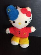 "B39) HELLO KITTY Sanrio McDonald's Employee Keychain Mini Plush 2000 4"""