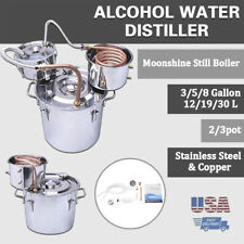 12L/3 Gallon(3pot)Water Alcohol Distiller with Thumper Keg Stainless Steel