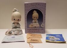 1992 Precious Moments figurine ~ Sowing Seeds of Love Pm922 ~ Hand signed by Sam