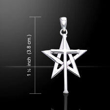 Cross Over Pentacle .925 Sterling Silver Pendant by Peter Stone