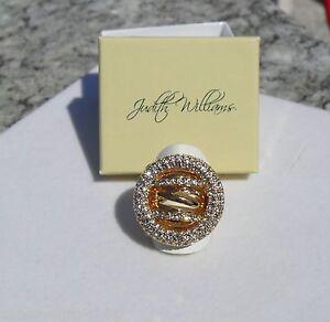 Ring vergoldet Kristalle Modeschmuck Judith Williams  Gr. 18 (57)