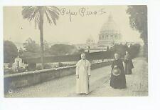 Pope Pius X Antique RPPC Rome Vatican Photo—Catholic ca. 1910s