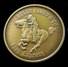 Wells Fargo & Co. Pony Express Rider Commemorative Coin Made In USA