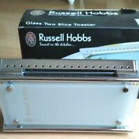 Russell Hobbs Glass Toaster 10617JP Morning Bread Pop Up with Box 100V