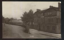 REAL PHOTO Postcard CRICH ENGLAND  Local Area Large 3 Story Building 1910's