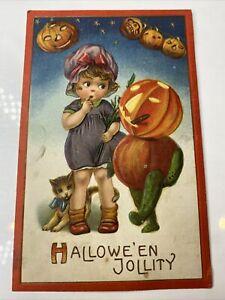 A Halloween Jollity Vintage Postcard