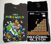 Lot Of 2 Mario Super Mario Bros Nintendo T Shirts XL Collectible Throwbacks