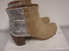 Cara London Ladies Ankle Boots, Glitter back, Suede Leather, Size EU 41 (UK 8)