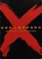 DEF LEPPARD 2003 X WORLD TOUR CONCERT PROGRAM BOOK / JOE ELLIOTT / EX 2 NMT