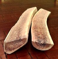 Great Treats! 2 Large Split Elk Antler Dog Chew-HARD MARROW-High Quality!