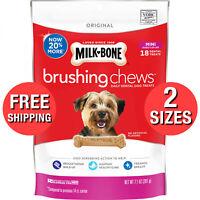 Mini Brushing Chews Daily Dental Dogs Treats Bones Per Bag 12 Essential Vitamins