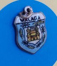 K100 Enamel Shield Malaga Sterling Silver Vintage Bracelet Charm