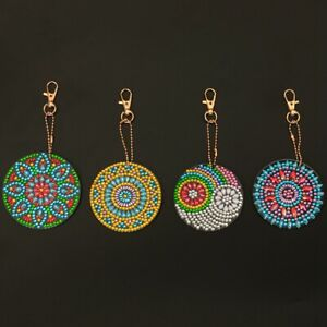 Keychain Decor DIY Full Diamond Painting Keyring Craft Art Pendant Accessories